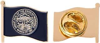 Nebraska NE State Flag Lapel Pin Enamel Made of Metal Souvenir Hat Men Women Patriotic (Waving Flag Lapel Pin)