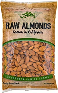 Steam Pasteurized Almonds Direct From Our Farm-- 2.5 LB Resealable Bag