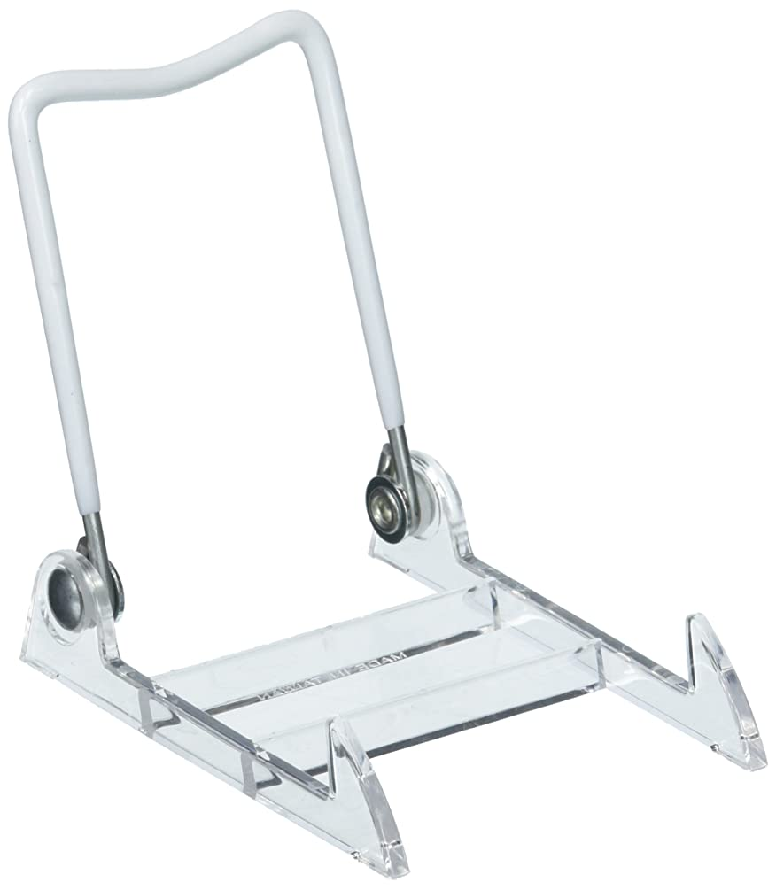 Home Decor 5202-42 Easel Adjustable CLR.WHT 3.5IN, White