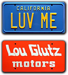 Celebrity Machines National Lampoon's Vacation/Lou GLUTZ & LUV MEMetal Prop License Plate Combo