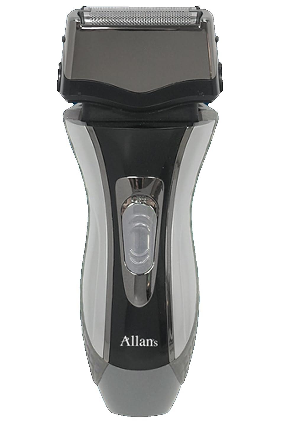 化学薬品組み合わせる小川Allans 往復式 3枚刃 洗える 充電 電動 髭剃り ウォッシャブル シェーバー トリプルブレード MEBM-7