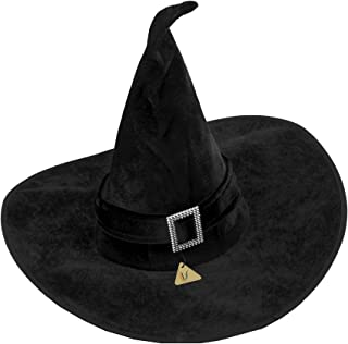 IDS Home Black Velour Witch Hat Halloween Fancy Dress Costumes
