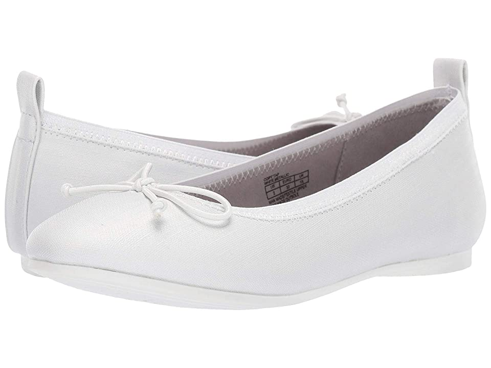 Kenneth Cole Reaction Kids Copy Tap (Little Kid/Big Kid) (White Metallic) Girls Shoes