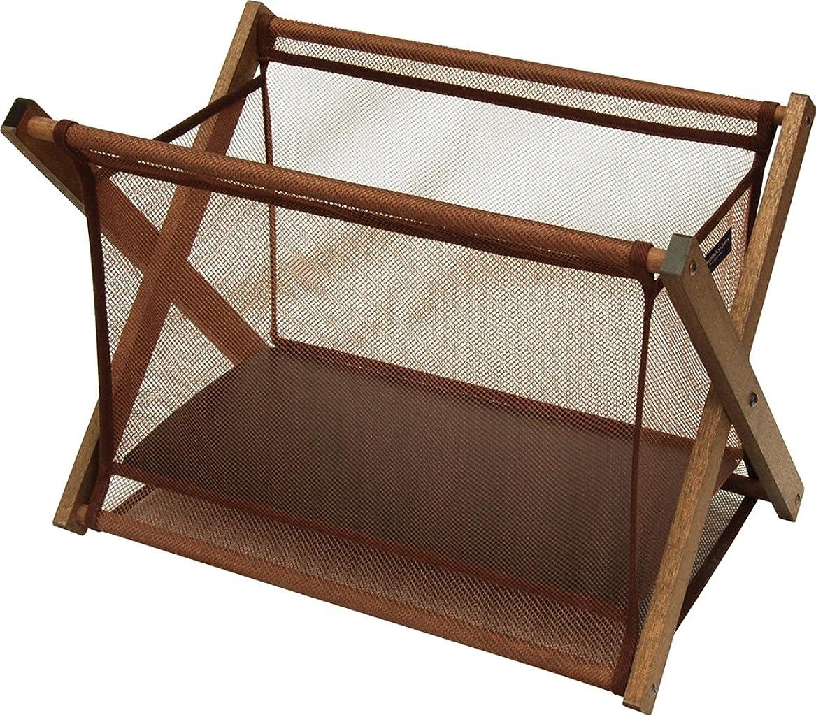サキ バスケット ブラウン W49(本体40)×H35(24)×D31(23) cm