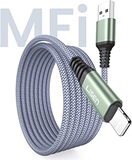 (10ft / 3m) LISEN Lightning to USB-A Cable, [Apple MFi Certified] 10 Feet Long iPhone Charger, Durable Nylon Braided Fast Charging Cord Compatible with iPhone 11/Pro/X/Xs Max/XR/8 Plus /7 Plus/6/ iPad