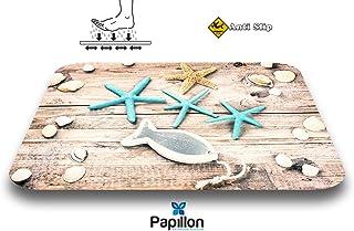 Papillon - Alfombrilla de baño (poliéster, 60 x 40 cm),