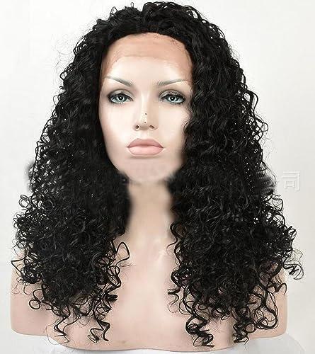envío rápido en todo el mundo Front Lace Wigs Europa y y y los Estados Unidos Africano negro señoras moda Roll Kinky Curly peluca Cap  salida para la venta