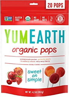 YumEarth Organic Lollipops, 4.2 Ounce ( Packaging May Vary )