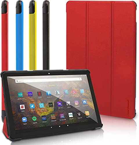"""discount All New Fire HD 8 Tablet Case, Fire HD 8 Plus Tablet Case (8"""" 10 Generation, 2020 Release) - Ultra Light wholesale Slim Fit sale Protective Cover with Auto Wake/Sleep Red sale"""
