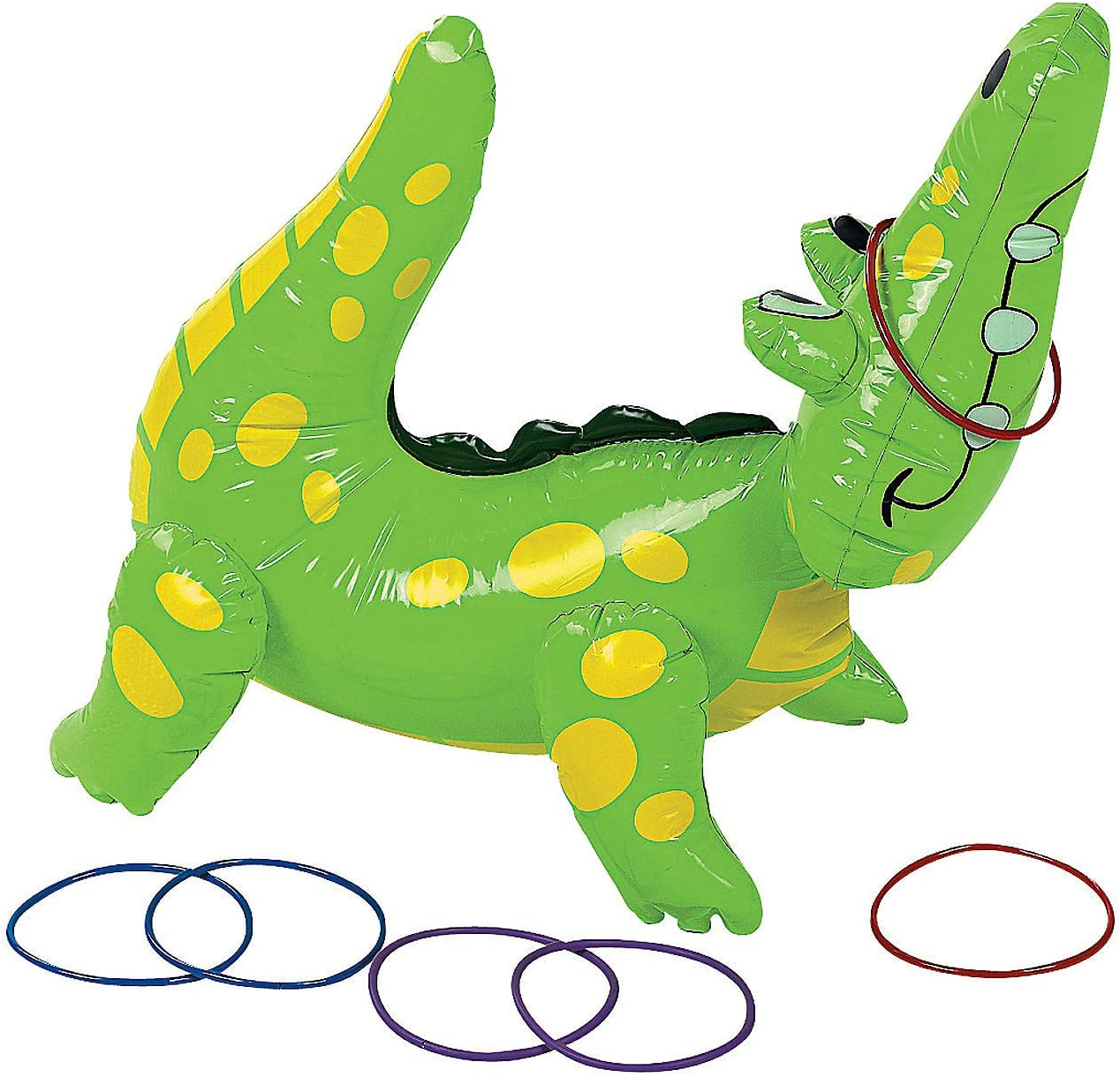 Fun Express Inflatable Alligator Ring 6 Includes Game Lowest Sale item price challenge Toss