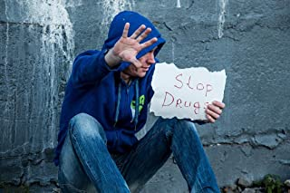LAMINATED 36x24 inches POSTER: Stop Drugs Addict Drug Addiction Drug Dependence Necromania Against Drugs Hands On The Street Despair Aids Man Hiv In The Hood The Dependence Of Dependent Drunkard