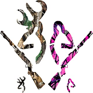 Best Decals Deer Gun Family Camo/Hot Pink Camo