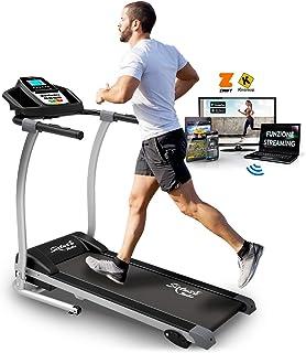 Sixtus Tapis Roulant Elettrico Pieghevole, Bluetooth, App KINOMAP, 12 Km/h, Sensore Cardiaco, Tappeto Ammortizzato Maxigri...