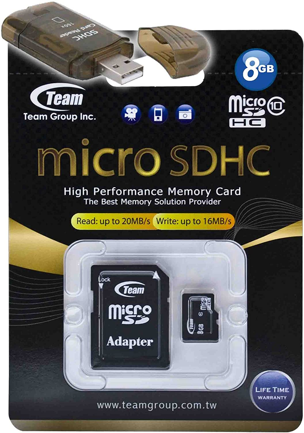 8GB Shipping included Class 10 MicroSDHC Max 70% OFF Team High Bla 20MB Memory Sec Card. Speed