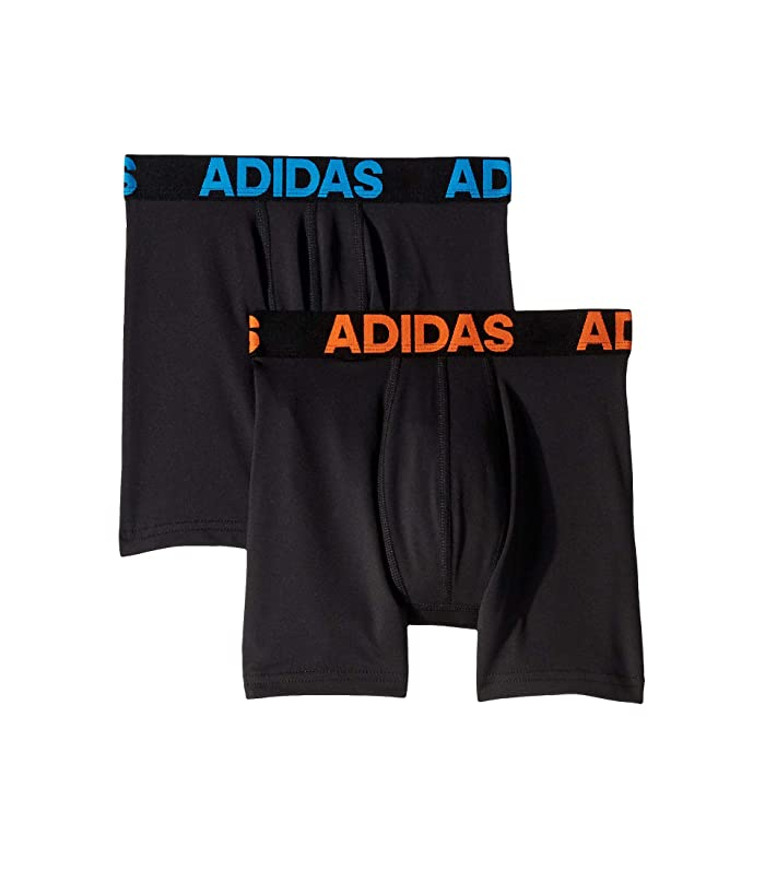 Small adidas Boys/' Climalite Boxer Brief 2 Pack