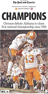 Post and Courier Clemson Tigers 2017 National Championship Newspaper - The Champions - Tuesday, January 10 - Full Newspaper