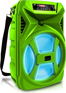 $55 » Sponsored Ad - Technical Pro 500 Watts Portable 8 Inch Bluetooth Speaker with Woofer & Tweeter - Festival PA LED Speaker w...