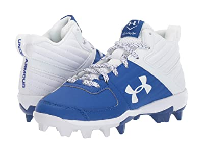 Under Armour Kids Leadoff Mid RM Baseball (Toddler/Little Kid/Big Kid) (Royal/White) Kids Shoes