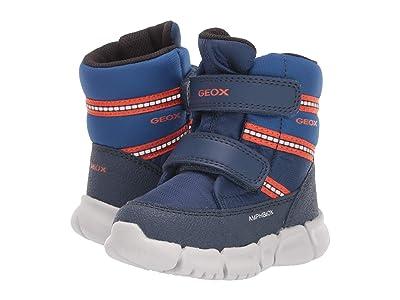 Geox Kids Flexyper Babx 2 (Toddler) (Navy/Orange) Boys Shoes