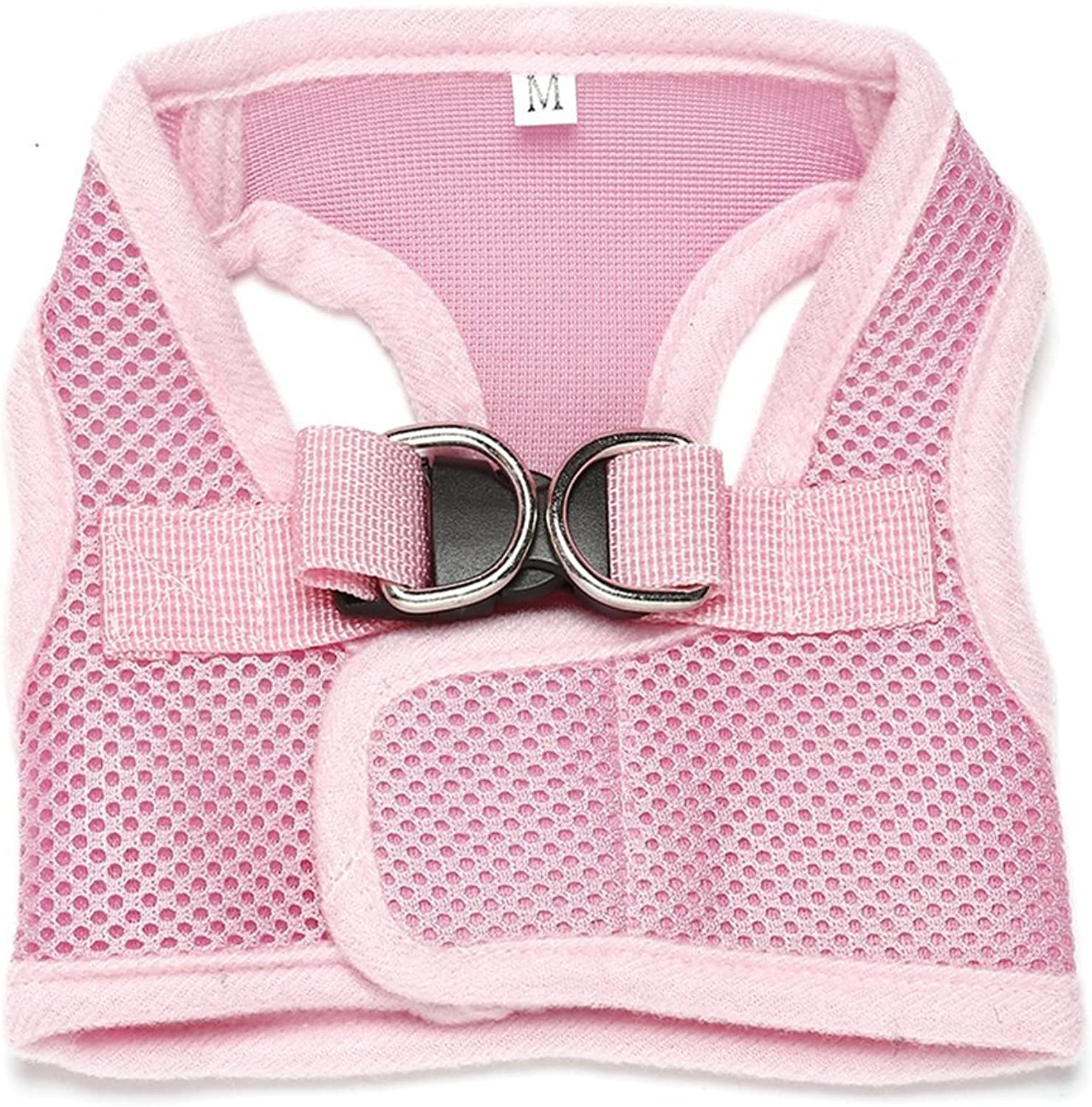 Jim Hugh Directly Sale 4Pcs lot Pet Dog Harness Mesh Breathable Vest Harness for Large Dogs and Small Cat Animals XSXXL