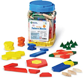 Learning Resources Wooden Pattern Blocks, Early Math Concepts, Set of 250, Ages 3+