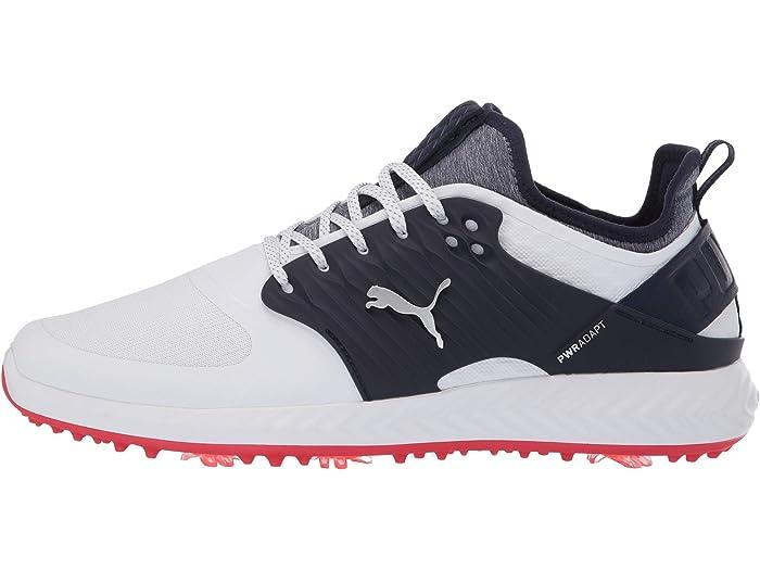 Puma Golf Ignite Pwradapt Caged White/puma Silver/peaco Sneakers & Athletic Shoes
