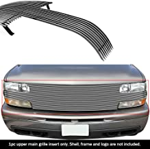 APS Compatible with 1999-2002 Chevy Silverado 1500 Full Open Face Main Upper Billet Grille C85025A