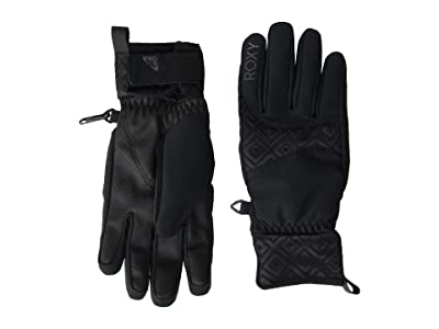 Roxy Big Bear Snow Gloves (True Black) Ski Gloves