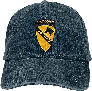1st Cavalry Air Mobile Vietnam Cowboy Hats Denim Hats Dad Hat Denim Dad Cap