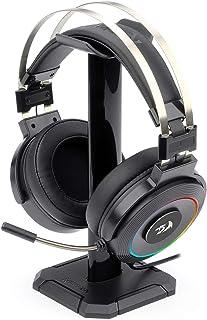 Redragon H320 Lamia - Auriculares para videojuegos con sonido envolvente 7.1, control de volumen, cancelación de ruido, luz RGB, soporte, auriculares con cable para PC, PS4, color negro