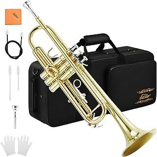 Eastar Gold Trumpet Brass Standard Bb Trumpet Set ETR-380 For Student Beginner with Hard..