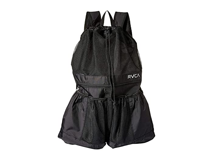 RVCA Drawcord Backpack (Black) Backpack Bags