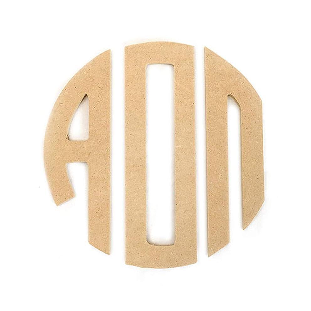 "Alpha Omicron Pi Sorority 8"" Round Wood Monogram Letter Set aoii"
