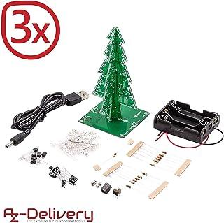 AZDelivery 3 x DIY LED Arbol de Navidad Kit hazlo tu mismo incluido EBook
