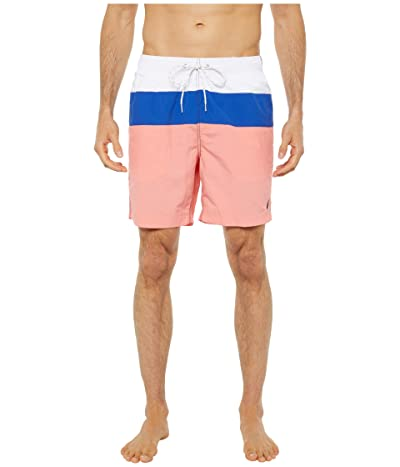 Nautica Color Block Swim Trunk (Red 1) Men