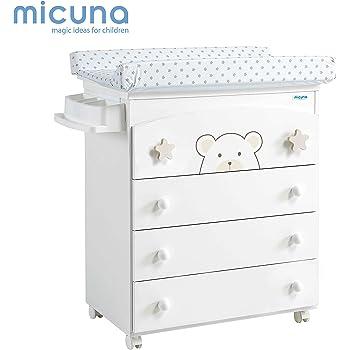 unisex color blanco y azul Micuna Wonderful Cambiador ba/ñera