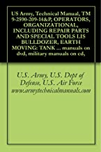 US Army, Technical Manual, TM 9-2590-209-14&P, OPERATORS, ORGANIZATIONAL, INCLUDING REPAIR PARTS AND SPECIAL TOOLS LIS BULLDOZER, EARTH MOVING: TANK MOUNTING, ... manuals on dvd, military manuals on cd,