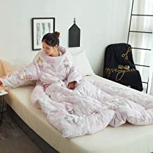 Lazy Quilt Blanket, Removable TV Blanket with Sleeves, Wearable Blanket, Multifunction Winter Warm Quilt, 59 * 78.7Inch,E