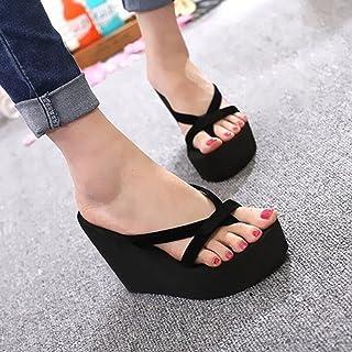 MEIBY Zapatillas de Tacón Alto para Mujer, Plataforma de Cuña, Zapatos de Playa Sandalias de Verano