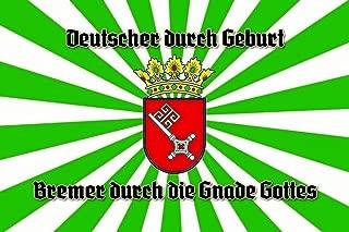 Deutscher Bremer durch die Gnade Gottes Germany Nostalgic Domed Strong Metal Tin Pub Sign 7.87