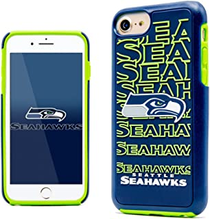 iPhone 7 Case, Dreamwireless Dream Impact Seattle Seahawks Dual Layer [Shock Absorbing] Protection Hybrid PC/TPU Rubber Case Cover for Apple iPhone 7, Blue/Green