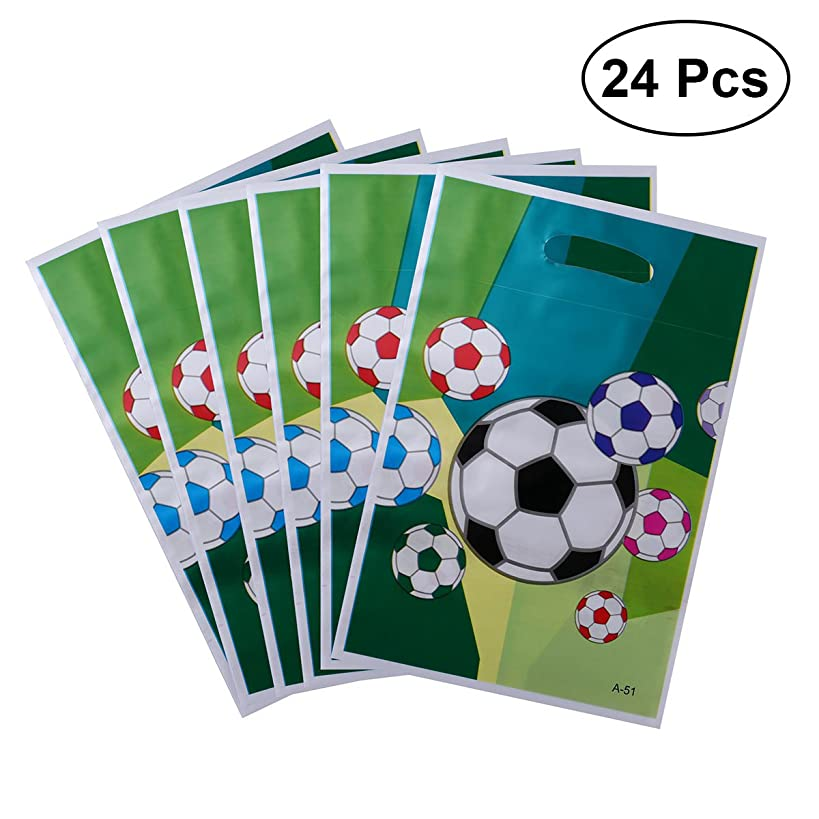 TOYMYTOY Gift Bags 24pcs Party Favor Bags Soccer Theme Treat Bags for Kid's Birthday Party
