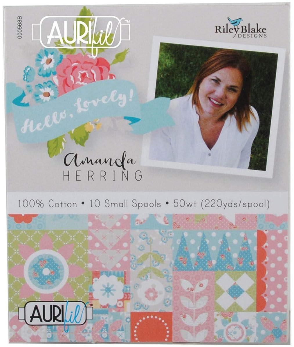 Amanda Herring Hello, Lovely Aurifil Thread Kit 10 Small Spools 50 Weight AH50HL10
