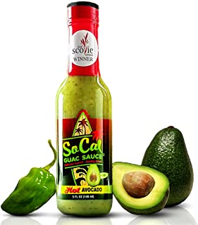 Hot Avocado SoCal Guac Sauce | A Guacamole Salsa Verde Hot Sauce | Real Avocados, Serrano..