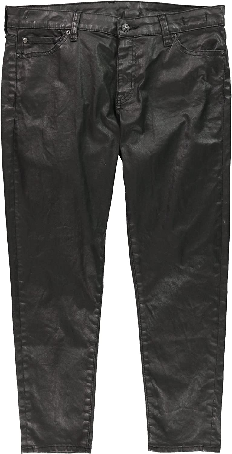 Ralph Lauren Womens Coated Cropped Jeans