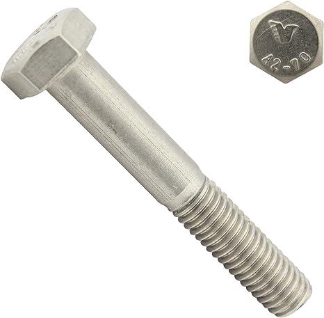 M10 x 90 mm Sechskantschrauben mit Schaft rostfrei Maschinenschrauben mit Teilgewinde Eisenwaren2000 5 St/ück Gewindeschrauben - DIN 931 ISO 4014 Edelstahl A2 V2A