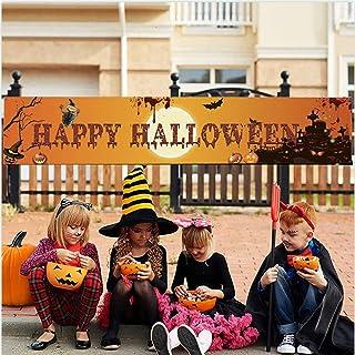 Holly LifePro Happy Halloween Banner|Halloween Decoration Outdoor Banner | Porch Decorations |Front Door Indoor Display Ga...