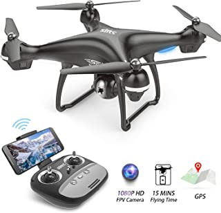 Drone with Camera for Adults 1080p HD Camera Drones with Live Video GPS Return Home WiFi FPV RC Quadcopter for Beginners with Follow Me, Altitude Hold, Long Control Range-BEEYEO S70W