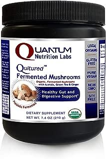 Qultured Fermented Mushrooms - USDA Organic and Vegan, 7.4 oz Powder - Organic Fermented Reishi, Himematsutake, Shitake and Maitake for a Healthy Gut and Digestive Support