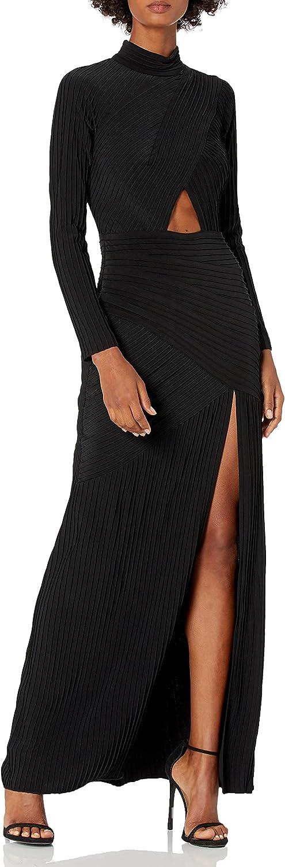 Tadashi New product type price Shoji Women's L S Gown Cutout Pintuck Split with